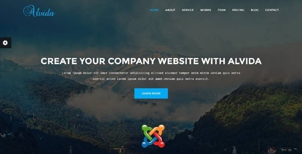 Alvida - One Page Business Joomla Theme