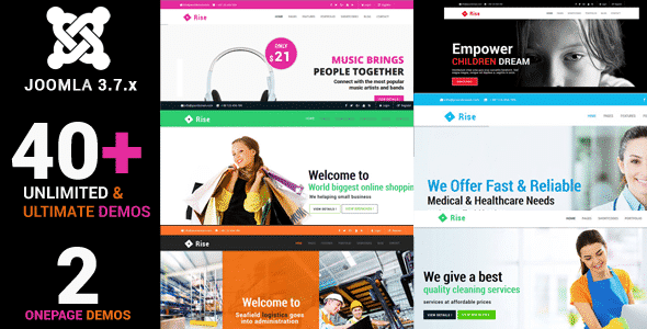 Rise - Responsive Multi-Purpose Creative Joomla Theme With Page builder