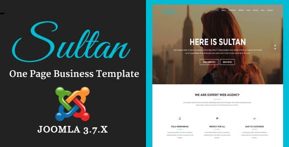 Sultan - One Page Business Multi-Purpose Joomla Theme With Page Builder