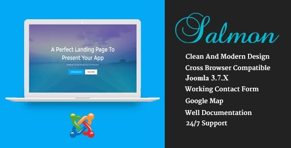Salmon - One Page App Landing Business Joomla Theme With Page Builder
