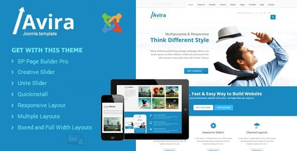 Avira - Responsive Multipurpose Joomla Theme With Page Builder