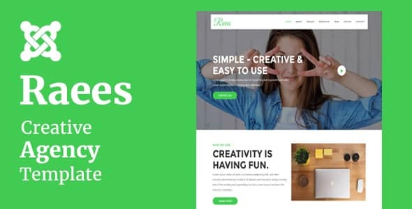 Raees - Creative Agency Joomla Theme With Page Builder