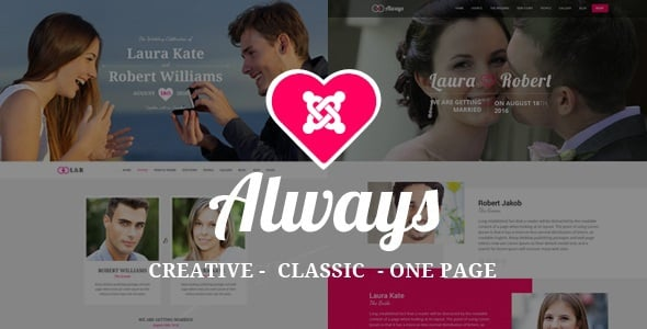 ALWAYS - Responsive Joomla Wedding Template With Page Builder