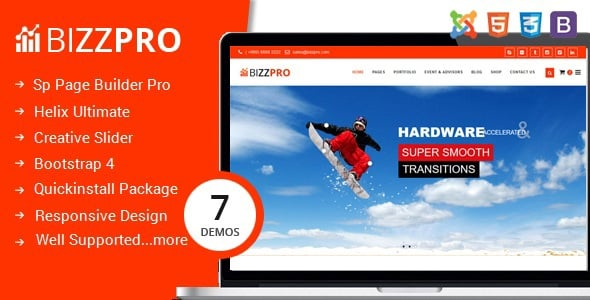 Bizzpro- Multipages Business Joomla Theme With Page Builder