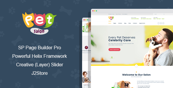 Pet Salon - Pet Grooming Joomla Theme With Page Builder