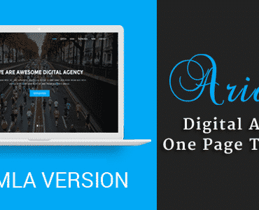 Ariana – Digital Agency One Page Joomla Theme