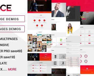 Vince One Page & Multi Page Multipurpose Joomla Theme