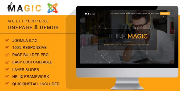 Magic - Multipurpose Onepage Joomla Template