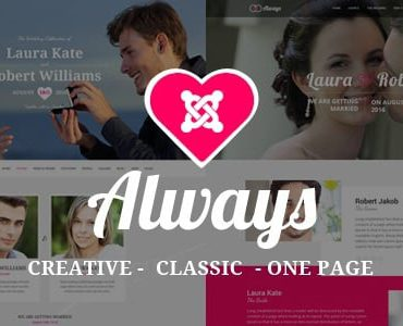 Always – Responsive Joomla Wedding Template