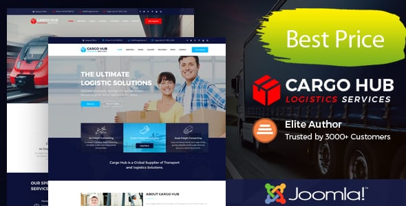 Cargo HUB – Transport Joomla Theme for Transportation