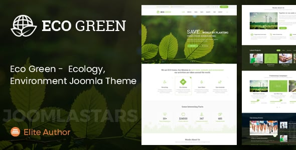 Eco Green – Joomla Theme for Environment, Ecology