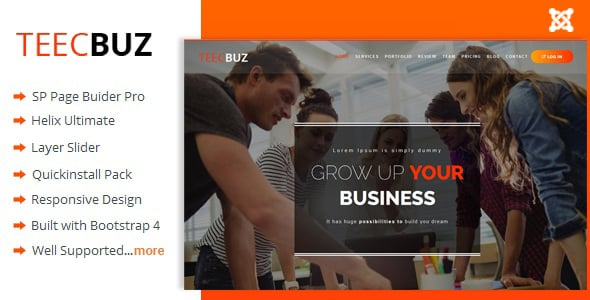 TeecBuz – Business Onepage Multi-Purpose Joomla Template