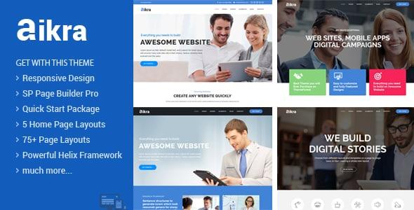 Aikra – Responsive MultiPurpose Joomla Template