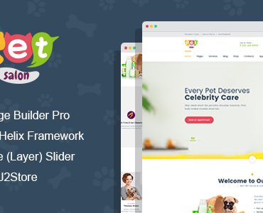 Pet Salon – Pet Grooming Joomla Theme