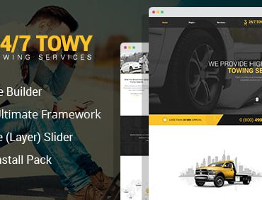 Towy – Emergency Auto Towing Service Joomla Theme