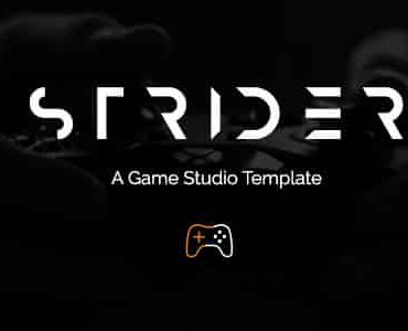 Strider – A Game Studio Joomla Template with Page Builder