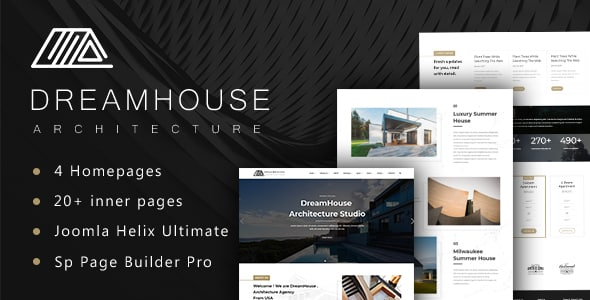 Dreamhouse – Architecture & Interior Design Joomla Template