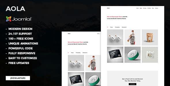Aola – Minimalist Portfolio Joomla Helix Ultimate Template