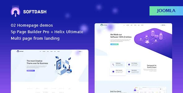 Softdash – Creative SaaS and Software Joomla Template