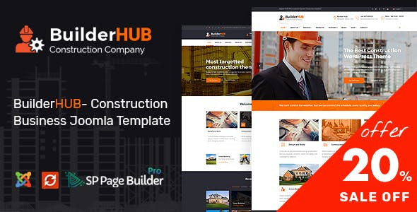 Builder HUB – Construction Business Joomla Template