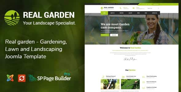 Real Garden – Gardening, Lawn and Landscaping Joomla Theme