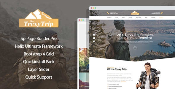 Mountis – Hiking And Outdoor Club Joomla Template with Page Builder