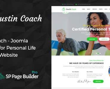 Austin Coach – Joomla Template for Health, Fitness, Personal Life Coaching