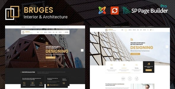 Bruges – Architecture & Interior Design Joomla Template