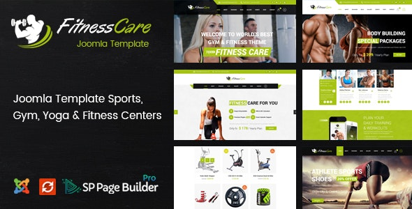 Fitness Care – Responsive Joomla Template for Gym