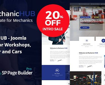 Mechanic HUB – Car Repair Joomla Template