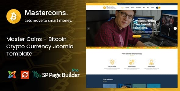 Master Coins – Cryptocurrency Joomla Template