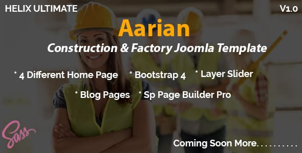 Aarian – Construction Responsive Joomla Template