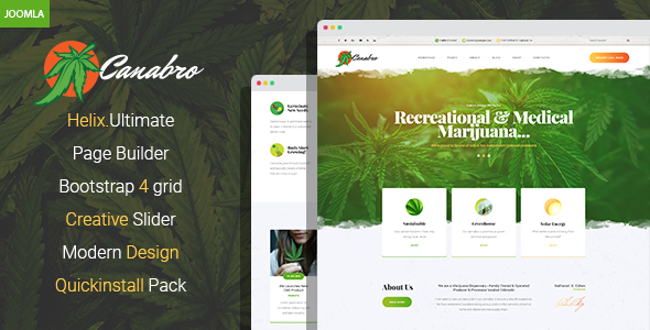 Canabro – Medical Marijuana Joomla Template