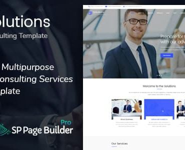 Solutions – Business Consulting Joomla Template