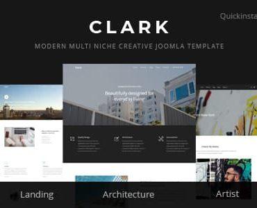 Clark – Modern Multi Niche Creative Joomla Template