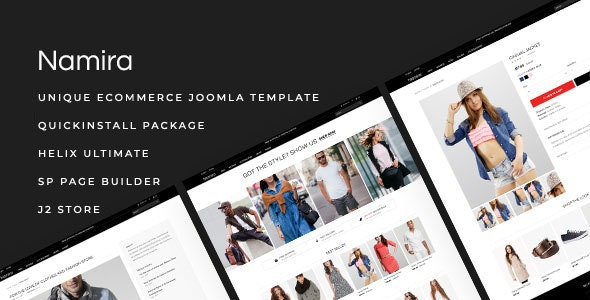 Namira – Unique eCommerce J2Store Joomla Template