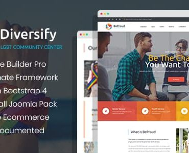 Diversify – LGBT Community Joomla Template With Page Builder