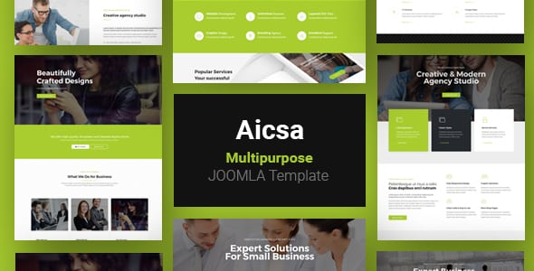 Aicsa – Responsive Multipurpose Joomla Website Template