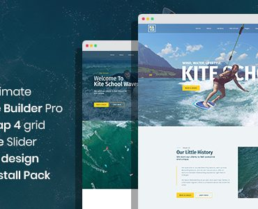 Wavex – Sailing and Surfing Single Page and Multi Page Joomla Template