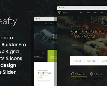 Leafty – Green Joomla Template for Tree Removal and Lumberjack Company