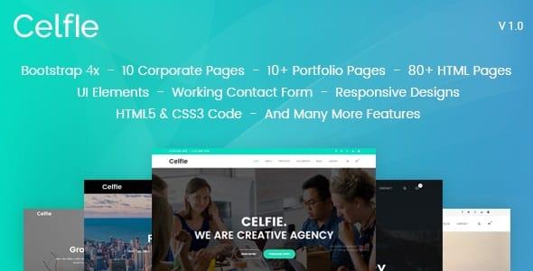 Celfie - Responsive Multipurpose Creative Joomla Template