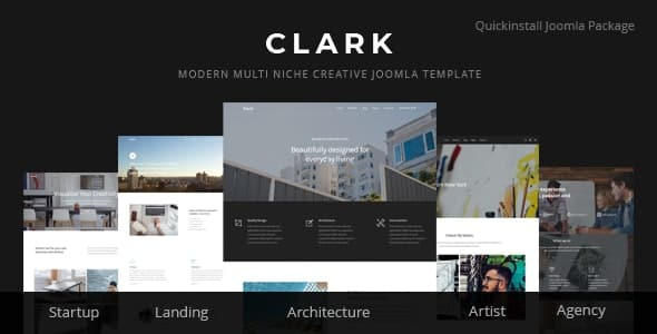 Clark - Modern Multi Niche Creative Joomla Template