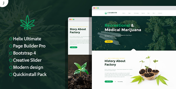 Canabicom - Medical Cannabis Joomla Responsive Template