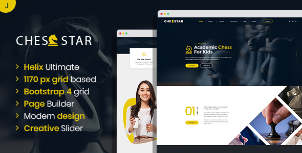 Chesstar - Chess Club and Personal Trainer Joomla Template