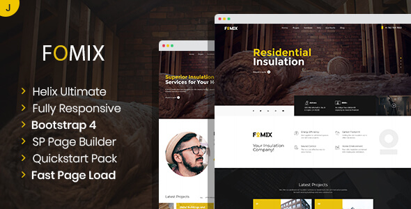 Fomix - House Insulation & Energy Efficiency Joomla Template