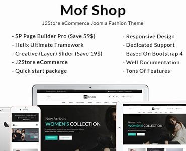 Mofshop - Minimalist Store with Page Builder Joomla Template