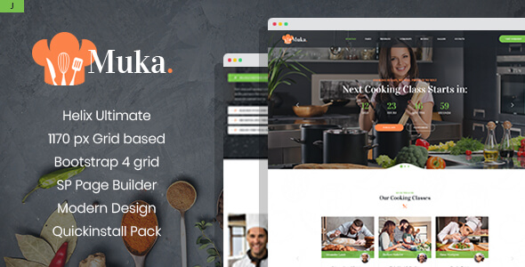 Muka - Bakery and Cooking Classes Joomla Template