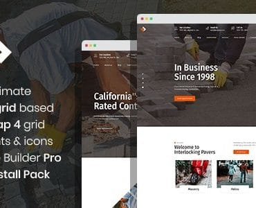 Pawex - Paving Contractor Joomla Template with Page Builder