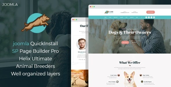 Venator - Dog Behavior and Obedience Training Joomla Template