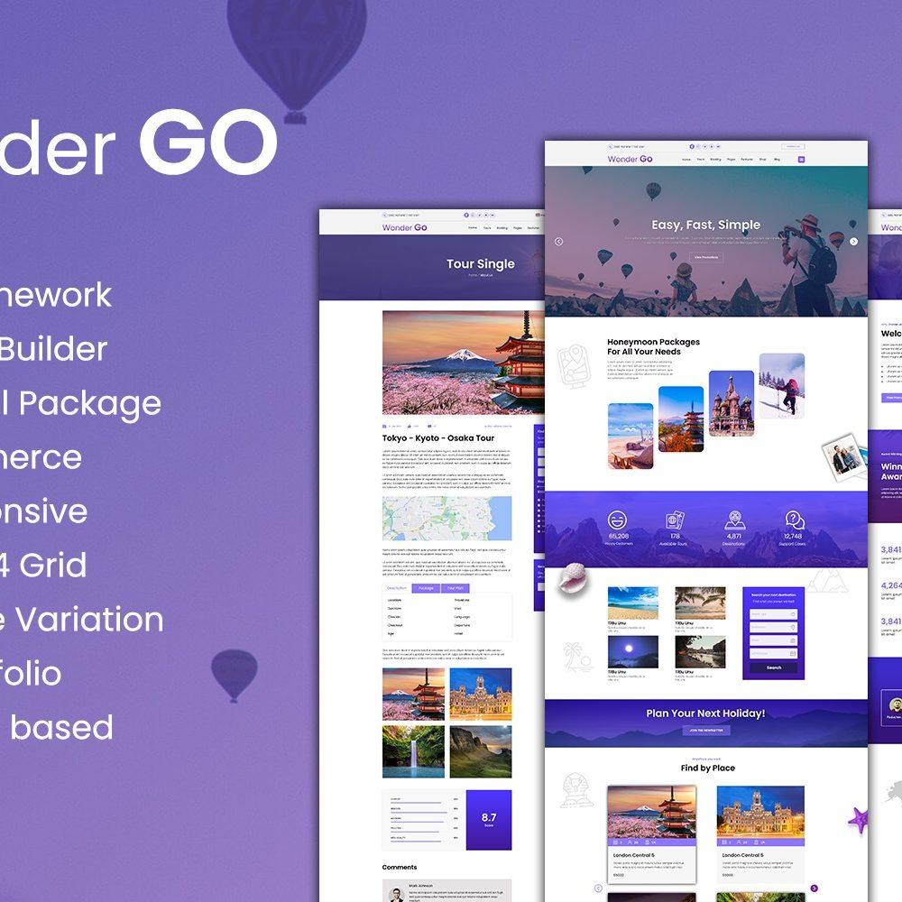 Wonder GO - Tour Booking and Travel WordPress Theme